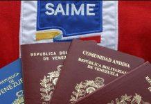 Pasaporte, Saime