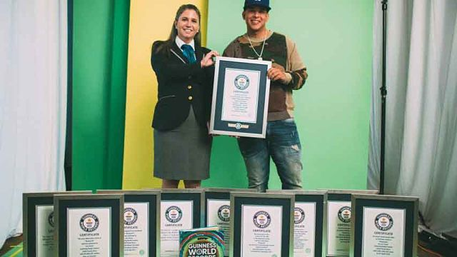 Daddy Yankee consigue 10 récords Guinnes