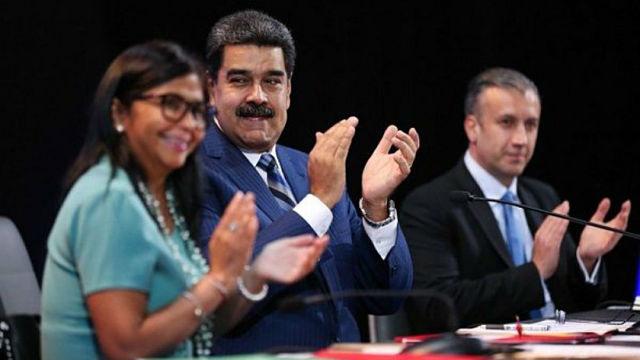 Delcy Rodríguez, Maduro y El Aissami
