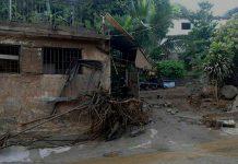 Casa afectada en Vargas