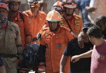 Bomberos en Río de Janeiro, Brasil