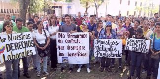 Paro de docentes en Barinas