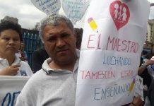 Protesta de los trabajadores de Fe y Alegría