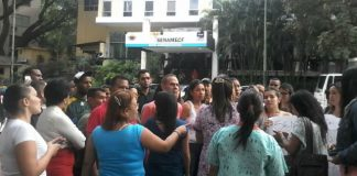 Protestas de los trabajadores de la morgue de Bello Monte