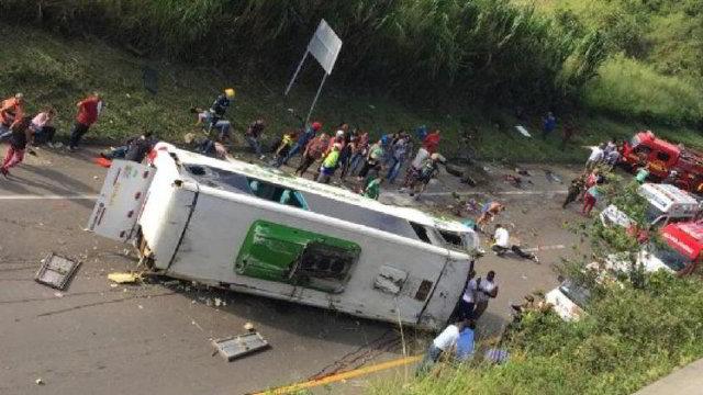 Accidente tránsito en Colombia
