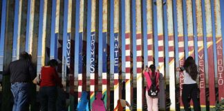 Caravana de migrantes en Tijuana