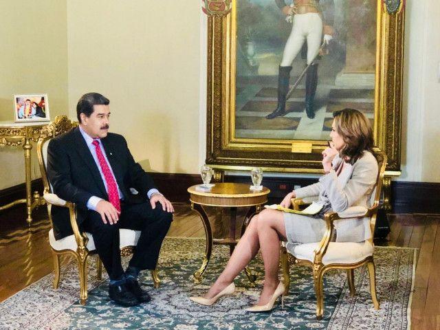 Maduro y María Elvira Salazar