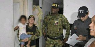 Niña venezolana rescatada en Colombia