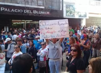 Protesta de docentes