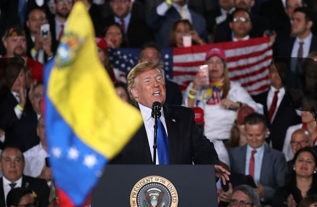 Donald Trump, discurso sobre Venezuela