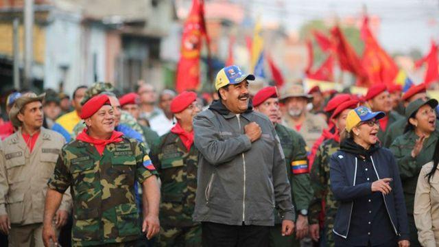 Nicolás Maduro en acto del 4F