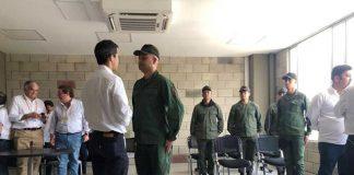 Militares y Juan Guaidó