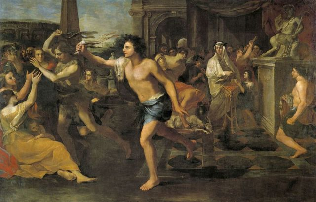 Fiestas lupercales, óleo sobre lienzo de Andrea Camassei.