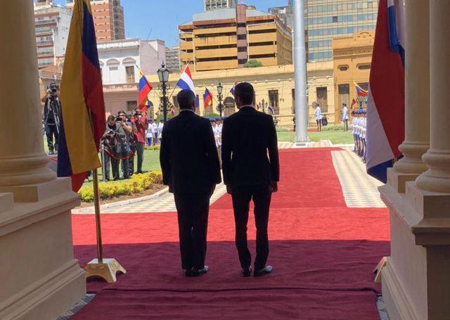 Juan Guaido y Mario Abdo