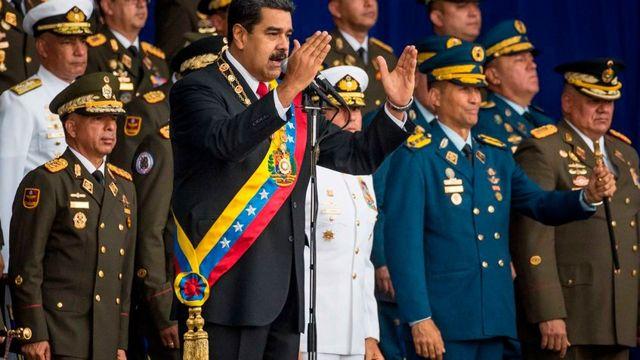 Maduro antes de ataque con drones