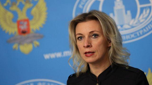 María Zajarova, portavoz de la diplomacia rusa.