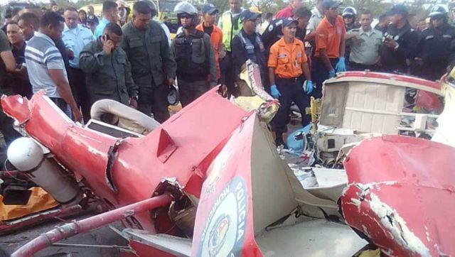 Accidente de helicóptero