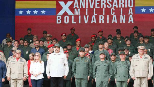 Maduro y la Milicia Bolivariana