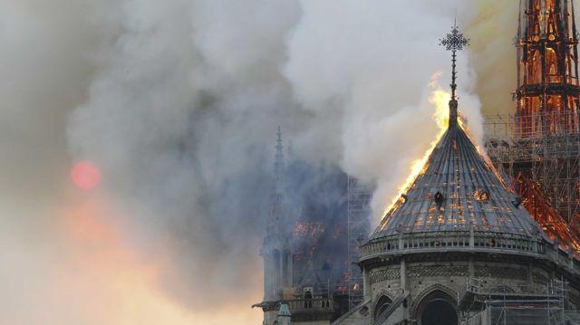 Incendio en la Catedral de Notre Dame, París