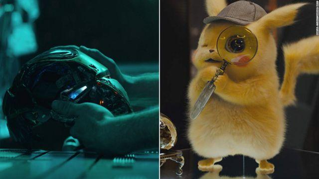 Avengers Endgame y Pokemon: Detective Pikachu