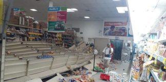 Comercio tras sismo