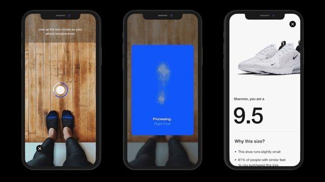 Escáner de pie, Nike