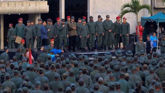 Maduro y militares