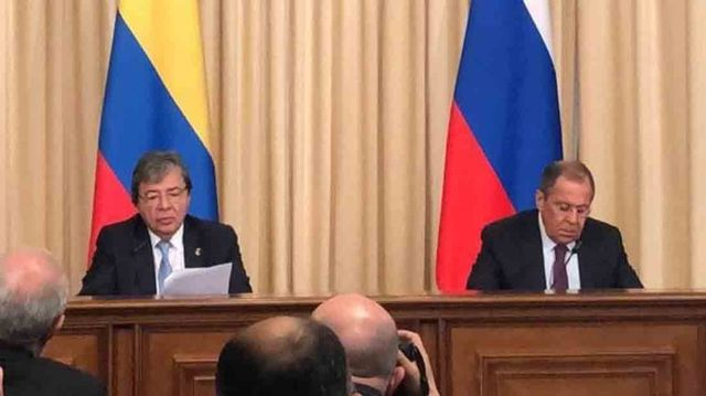 Cancilleres de Colombia y Rusia