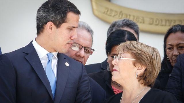 Juan Guaidó y Michel Bachelet
