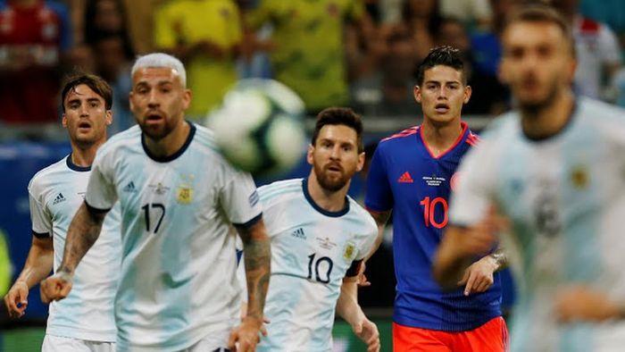 Lionel Messi y Jamés Rodríguez