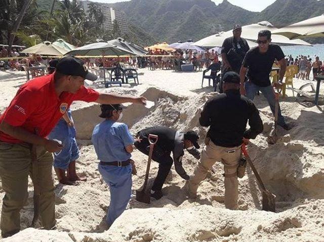 Cadáver en la playa de Cata