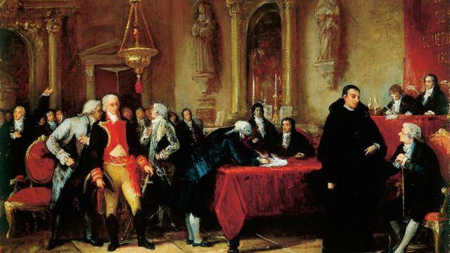Firma del Acta de Declaración de Independencia de Venezuela