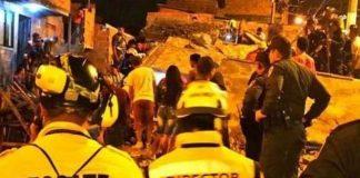 Derrumbe de edificio en Medellín