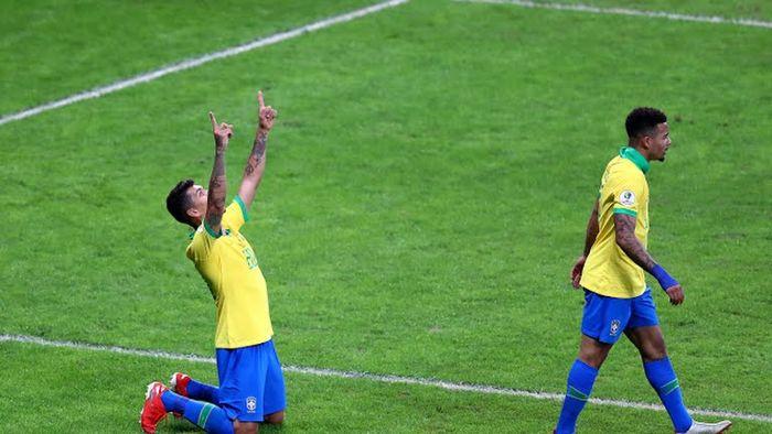 Firmino y Gabriel Jesús, Brasil vs Argentina, Copa América 2019