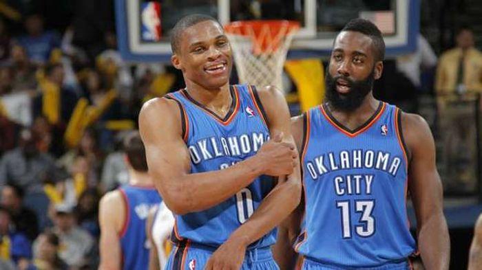 Westbrook y Harden en Oklahoma City Thunders