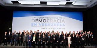 Grupo de Lima, Conferencia Internacional por la Democracia en Venezuela