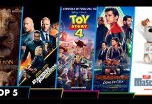 Top 5 de películas en estrenos en la taquilla venezolana