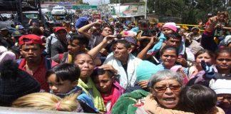 Venezolanos en la Frontera de Colombia y Ecuador.