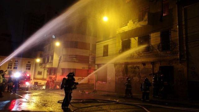 Incendio en Quito, Ecuador