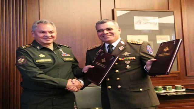 Padrino López, Ministro de Defensa de Venezuela, y su par de Rusia Serguéi Lavrov
