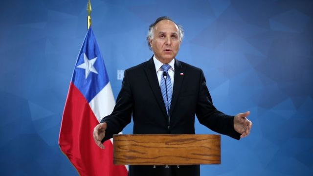 Canciller chileno, Teodoro Ribera.