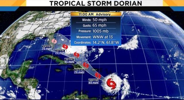 Tormenta Dorian