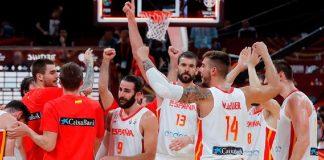 Selección de baloncesto de España.