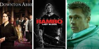 """Downton Abbey"", ""Rambo"" y ""Ad Astra""."