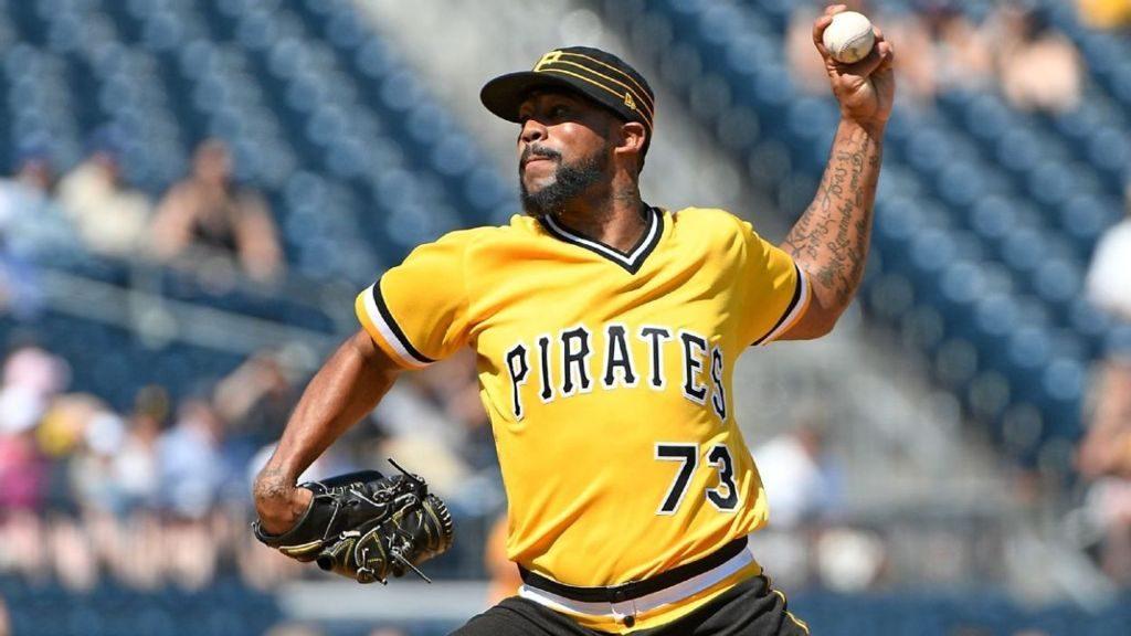 Felipe Vásquez, pitcher venezolano de los Piratas de Pittsburg