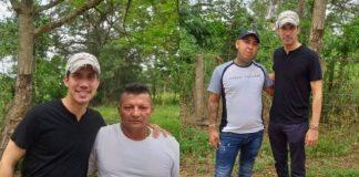 Juan Guaidó con integrantes de Los Rastrojos