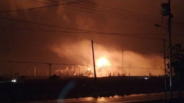Incendio en refinería de Paraguaná.