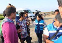 Venezolanos detenidos por Migración en Perú.