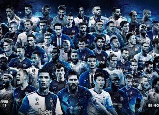 55 nominados al once ideal de FIFPro
