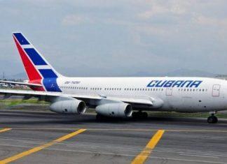 Avión de Cubana de Aviación.
